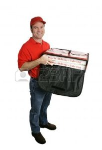 612525-a-friendly-pizza-delivery-man-holding-a-hot-pizza-delivery-bag--full-body-view-isolated-on-white