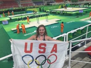 At the Men's Gymnastics meet in Rio